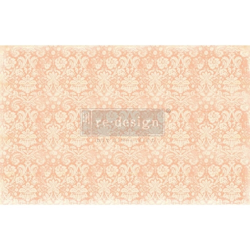 Prima Marketing PEACH DAMASK Redesign Decoupage Decor Tissue Paper 649098 Preview Image
