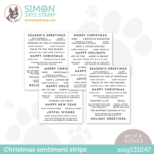 Simon Says Stamp SENTIMENT STRIPS HOLIDAY WISHES sssg131047 Preview Image