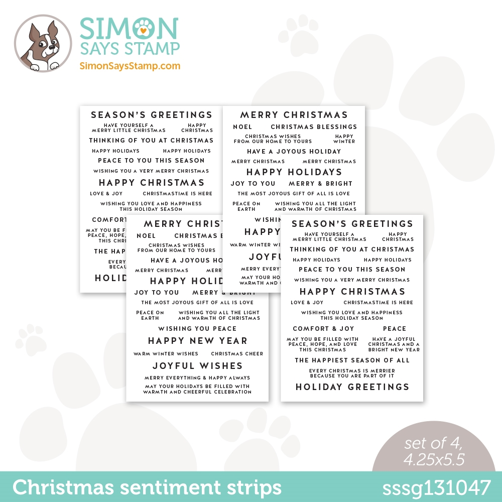Simon Says Stamp SENTIMENT STRIPS HOLIDAY WISHES sssg131047 zoom image