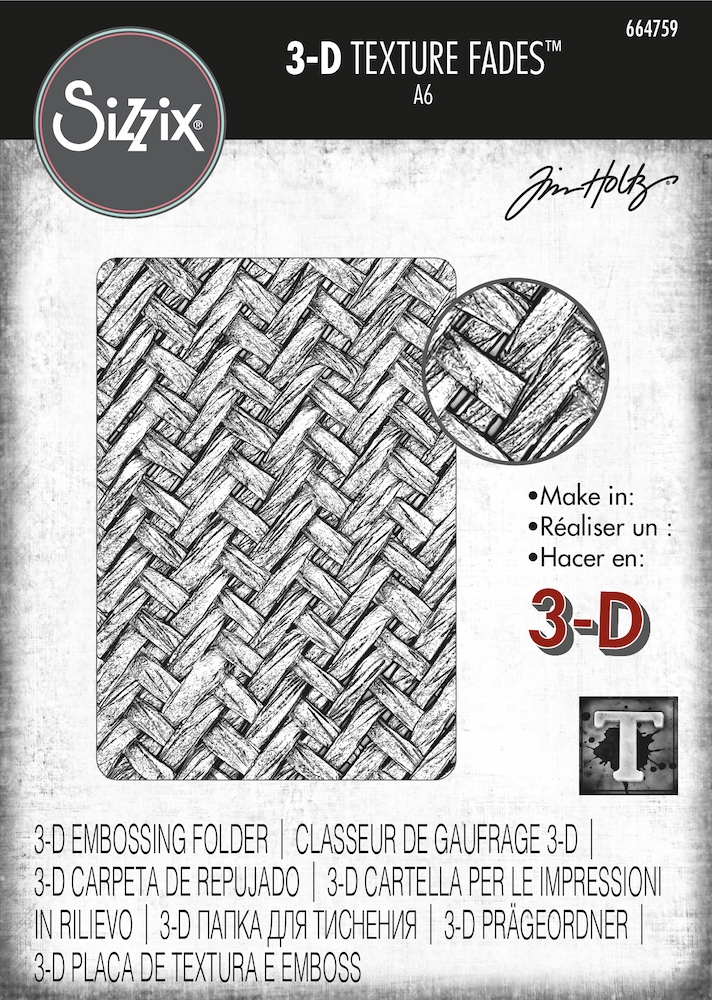 Tim Holtz Sizzix INTERTWINED 3D Texture Fades Embossing Folder 664759 zoom image