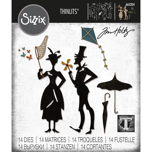 Tim Holtz Sizzix THE PARK Thinlits Dies 665204 Preview Image