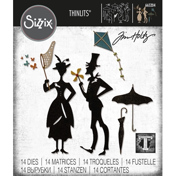Tim Holtz Sizzix THE PARK Thinlits Dies 665204