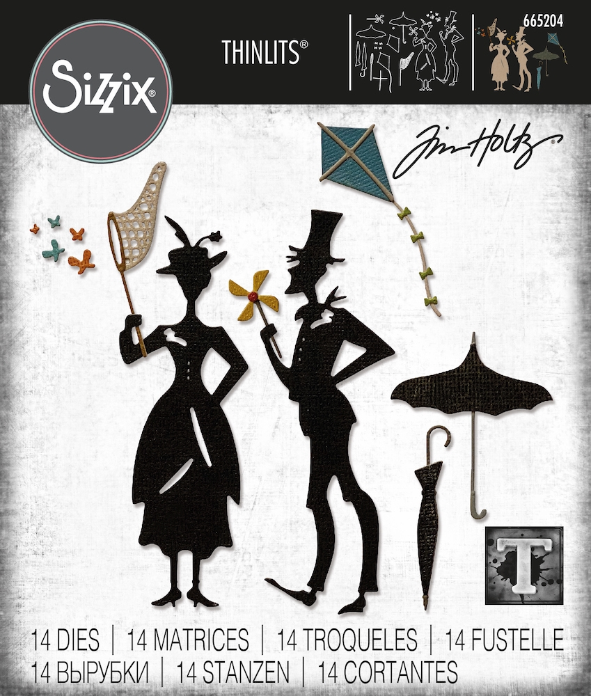 Tim Holtz Sizzix THE PARK Thinlits Dies 665204 zoom image