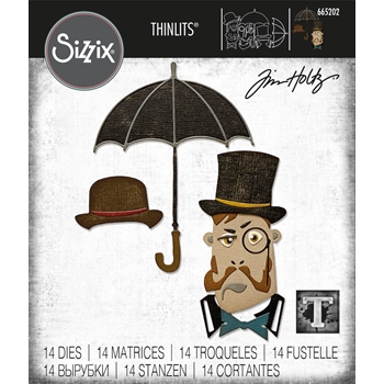Tim Holtz Sizzix THE GENT Thinlits Dies 665202