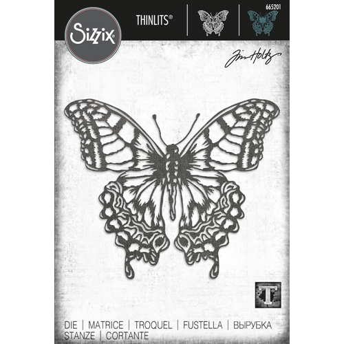 Tim Holtz Sizzix PERSPECTIVE BUTTERFLY Thinlits Dies 665201 Preview Image