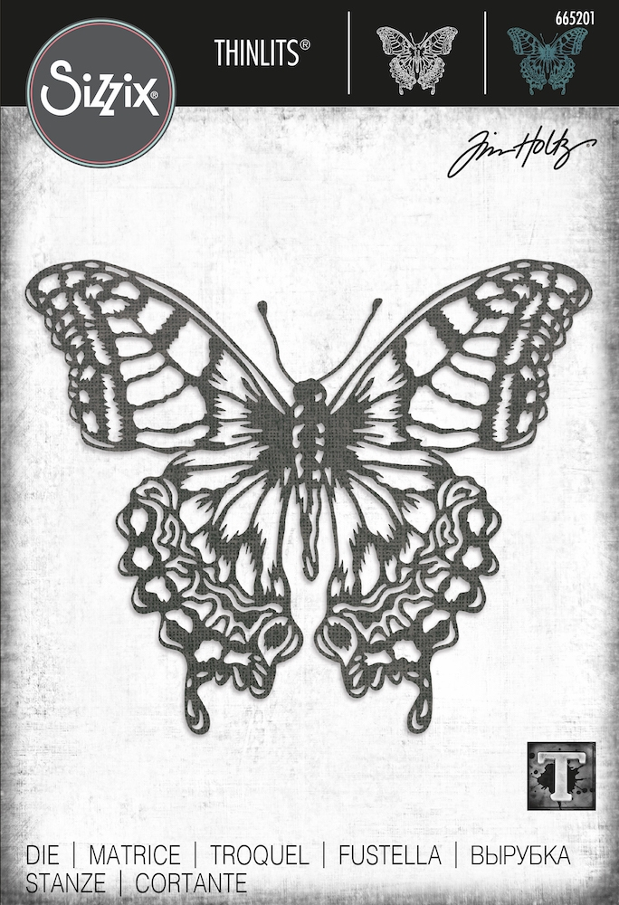 Tim Holtz Sizzix PERSPECTIVE BUTTERFLY Thinlits Dies 665201 zoom image