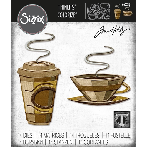 Tim Holtz Sizzix CAFE Colorize Thinlits Dies 665212 Preview Image