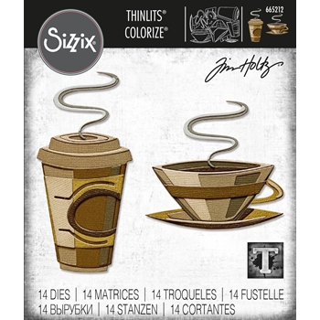 Tim Holtz Sizzix CAFE Colorize Thinlits Dies 665212
