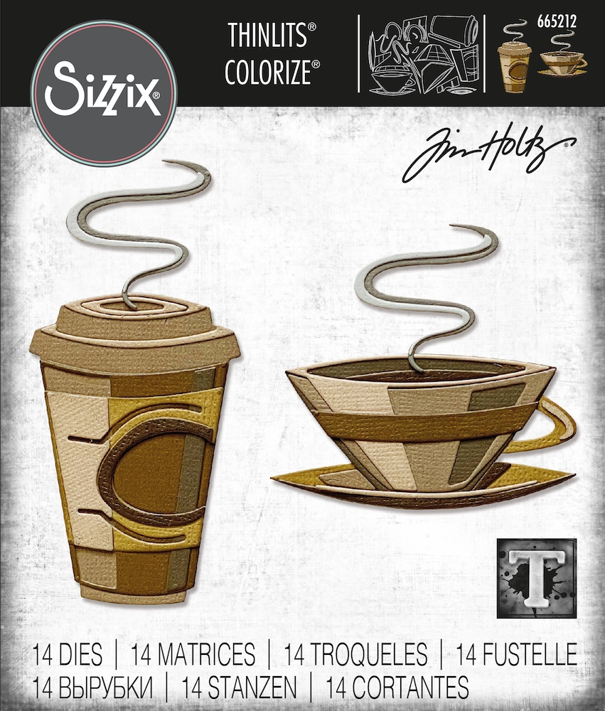 Tim Holtz Sizzix CAFE Colorize Thinlits Dies 665212 zoom image