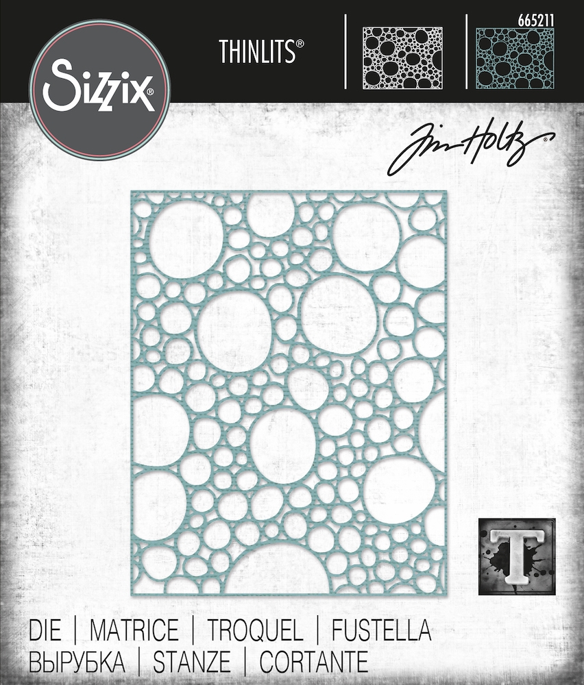 Tim Holtz Sizzix BUBBLING Thinlits Dies 665211 zoom image
