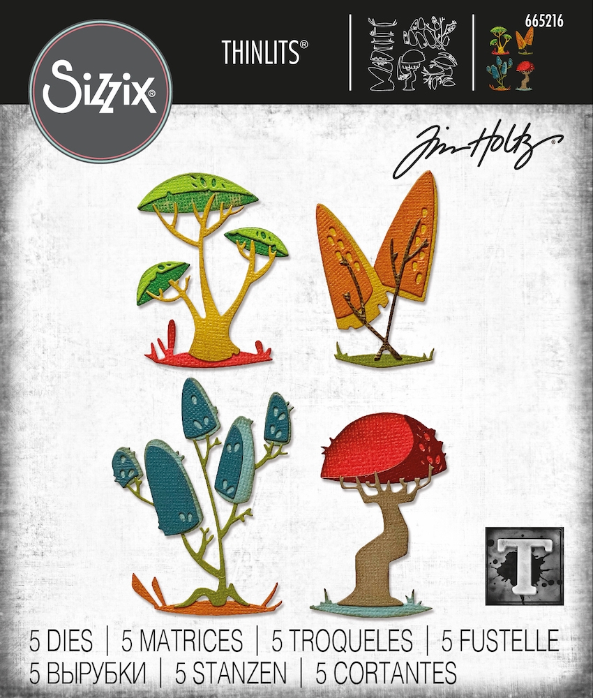 Tim Holtz Sizzix FUNKY TOADSTOOLS Thinlits Dies 665216 zoom image