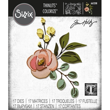 Tim Holtz Sizzix BLOOM Colorize Thinlits  Dies 665208