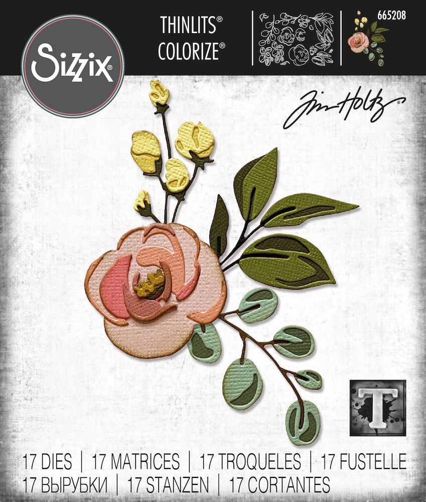Tim Holtz Sizzix BLOOM Colorize Thinlits Dies 665208 zoom image