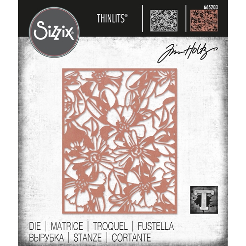 Tim Holtz Sizzix FLOWERY Thinlits Die 665203 Preview Image