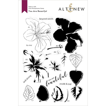 Altenew YOU ARE BEAUTIFUL Clear Stamps ALT4688