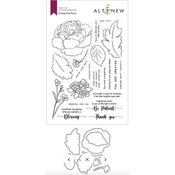 Altenew TRANQUILITY ROSE Clear Stamp and Die Bundle ALT4686