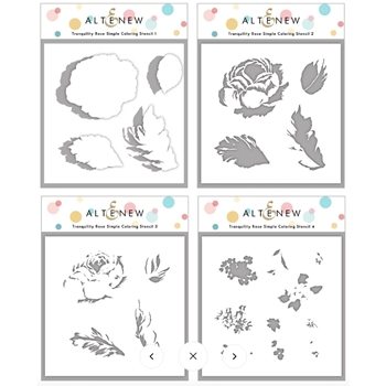 Altenew TRANQUILITY ROSE Coloring Stencils ALT4685