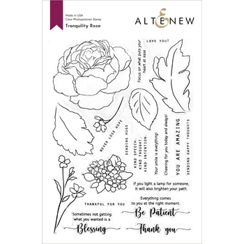 Altenew TRANQUILITY ROSE Clear Stamps ALT4683