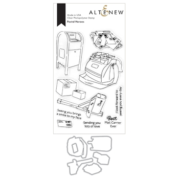 Altenew POSTAL HEROES Clear Stamp and Die Bundle ALT4679