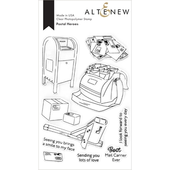 Altenew POSTAL HEROES Clear Stamps ALT4677
