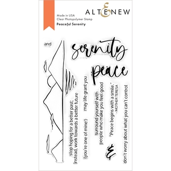 Altenew PEACEFUL SERENITY Clear Stamps ALT4676