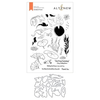 Altenew GOLDFISH POND Clear Stamp and Die Bundle ALT4672