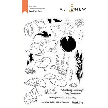 Altenew GOLDFISH POND Clear Stamps ALT4670