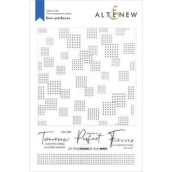 Altenew DOTS AND BOXES Clear Stamps ALT4669