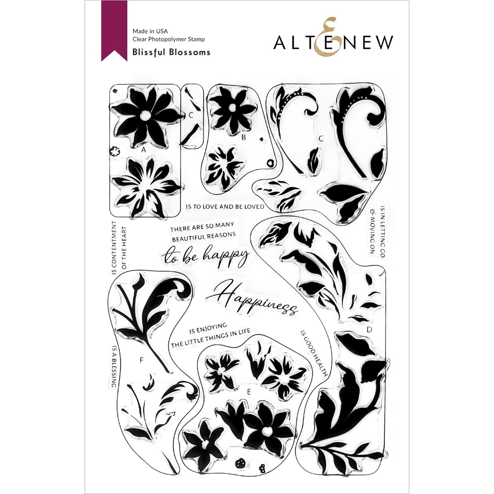 Altenew BLISSFUL BLOSSOM Clear Stamps ALT4666* zoom image