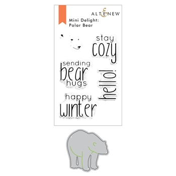 Altenew MINI DELIGHT POLAR BEAR Clear Stamp and Die Bundle ALT4578