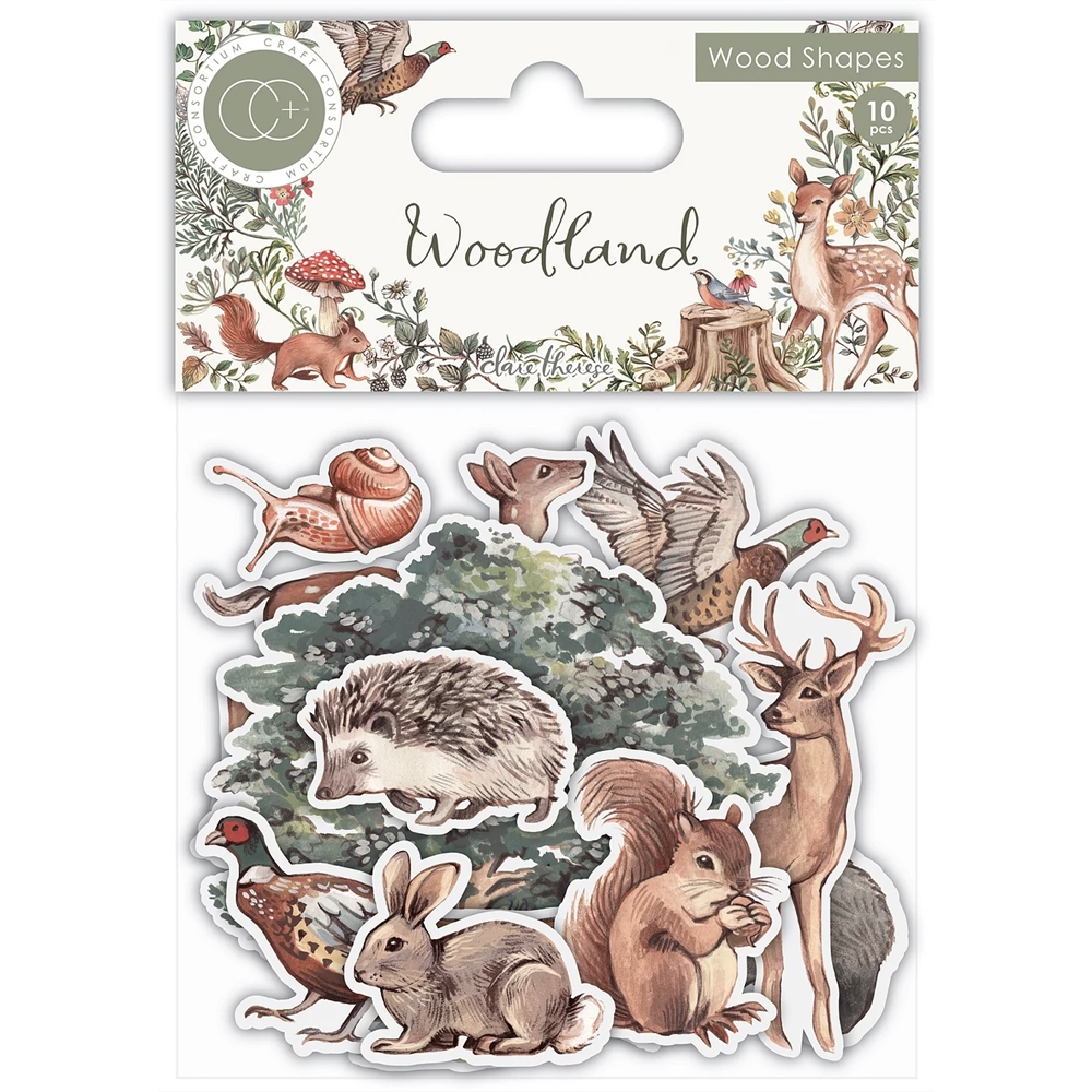 Craft Consortium Woodland LASER CUT WOODEN SHAPES CCWDNS012 zoom image
