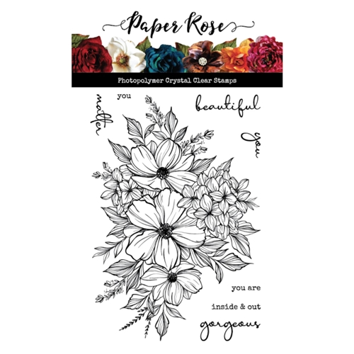 Paper Rose Milly's Bouquet Stap set