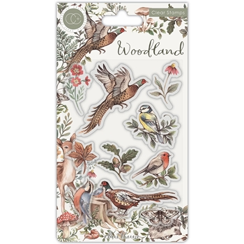 Craft Consortium Woodland BIRDS Clear Stamps CCSTMP054