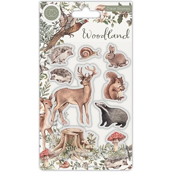 Craft Consortium WOODLAND Clear Stamps CCSTMP053
