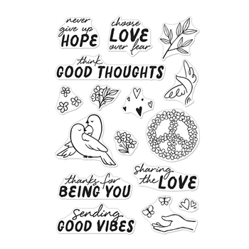 Hero Arts Clear Stamps GOOD VIBES CM496*