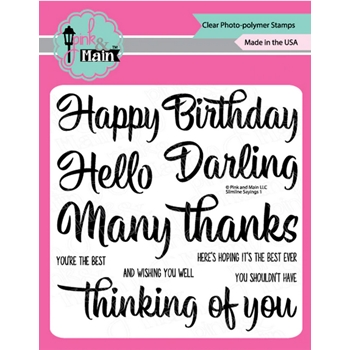 Pink and Main SLIMLINE SAYINGS Clear Stamps pm0435