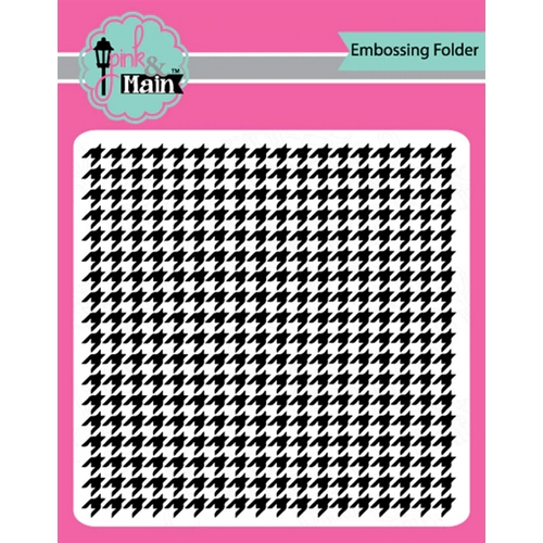 Pink and Main HOUNDSTOOTH Embossing Folder pmt004 Preview Image