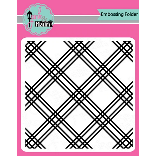 Pink and Main PLAID Embossing Folder pmt007 Preview Image