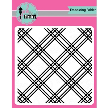 Pink and Main PLAID Embossing Folder pmt007