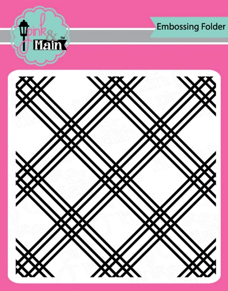 Pink and Main PLAID Embossing Folder pmt007 zoom image