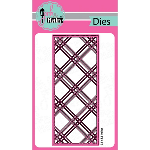 Pink and Main PLAID SLIMLINE Die pnm311 Preview Image
