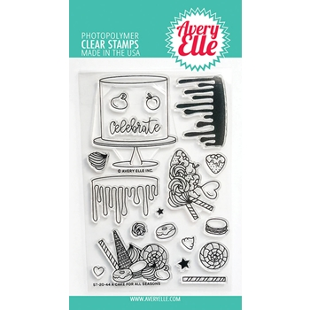 Avery Elle Clear Stamps A CAKE FOR ALL SEASONS ST 20 44