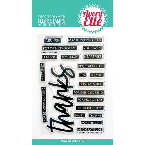 Aver Elle Clear Stamps LOADS OF THANKS ST 20 45 Preview Image