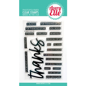 Aver Elle Clear Stamps LOADS OF THANKS ST 20 45