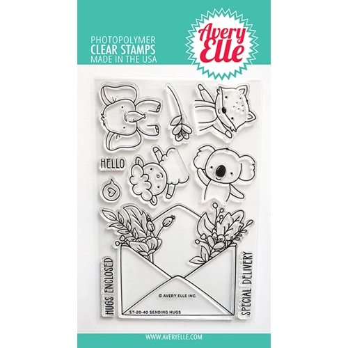 Avery Elle Clear Stamps SENDING HUGS ST 20 40 Preview Image