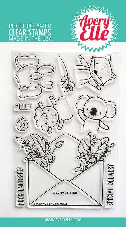 Avery Elle Clear Stamps SENDING HUGS ST 20 40 zoom image