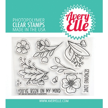 Avery Elle Clear Stamps SENDING FLOWERS ST 20 41
