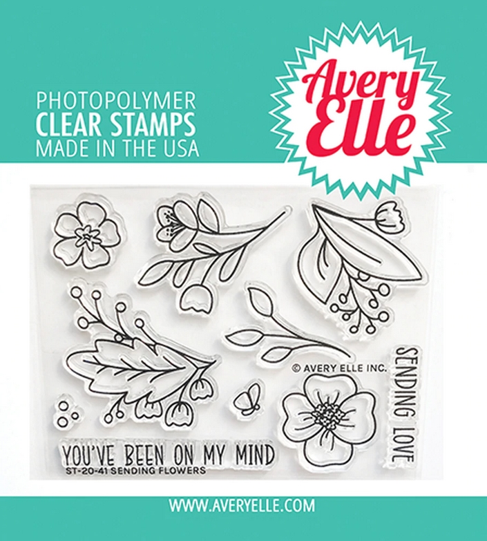 Avery Elle Clear Stamps SENDING FLOWERS ST 20 41 zoom image