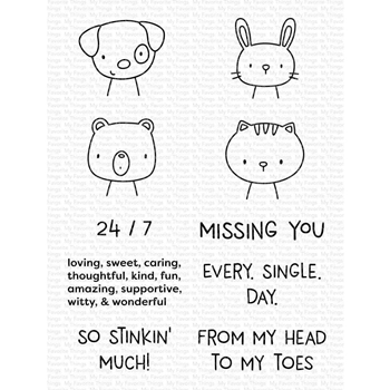 My Favorite Things MISSING YOU EVERY SINGLE DAY Clear Stamps cs523