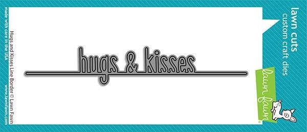 Lawn Fawn HUGS AND KISSES Line Border Die Cut lf2475 zoom image